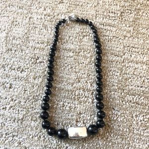 Rage Sterling Silver And Black Onyx Necklace